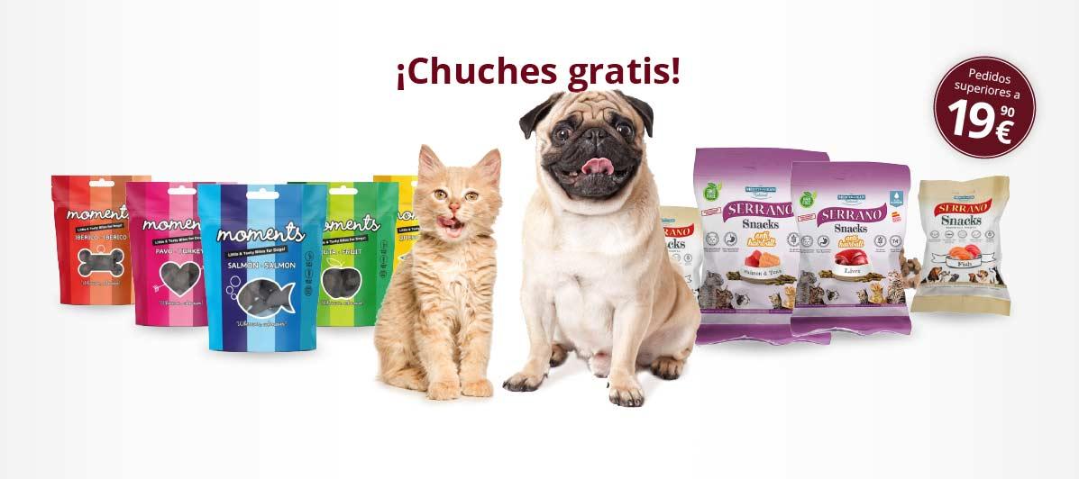 snacks y premios para perros y gatos